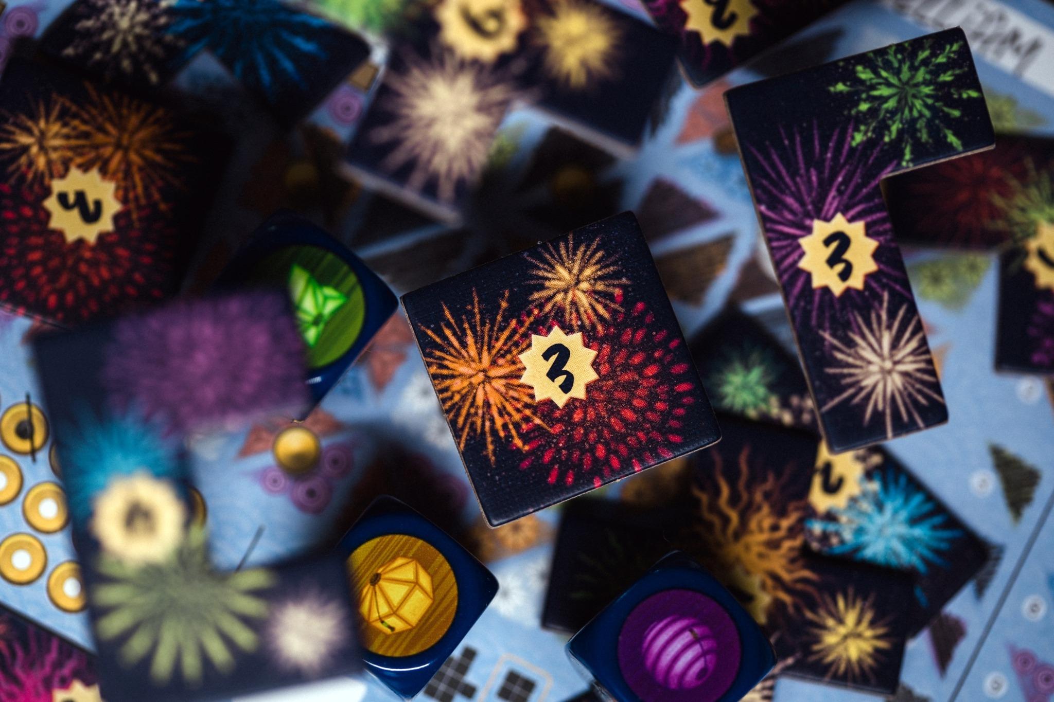 Lanterns dice origames jeu de société