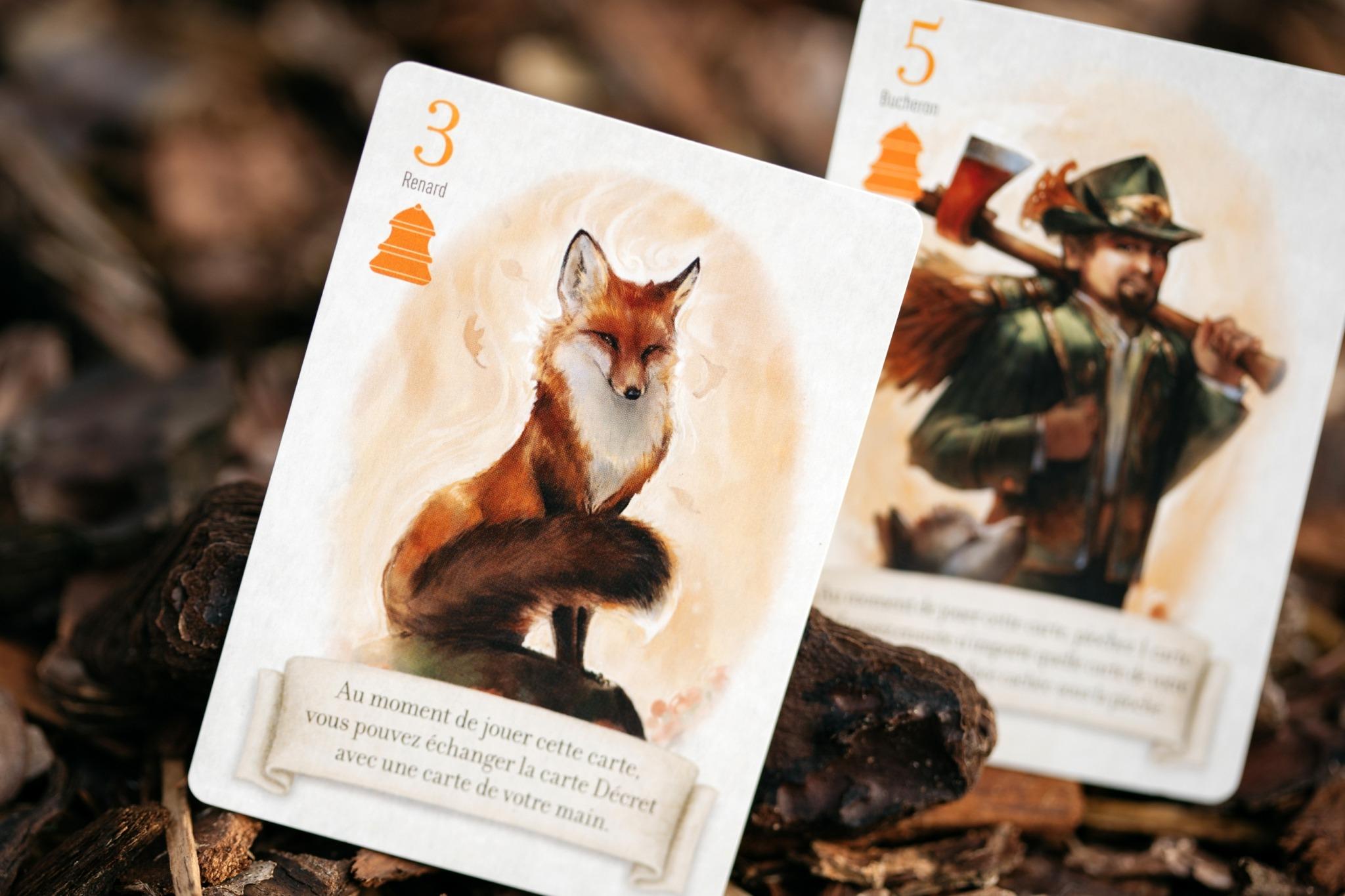 Le renard des bois origames jeu de société