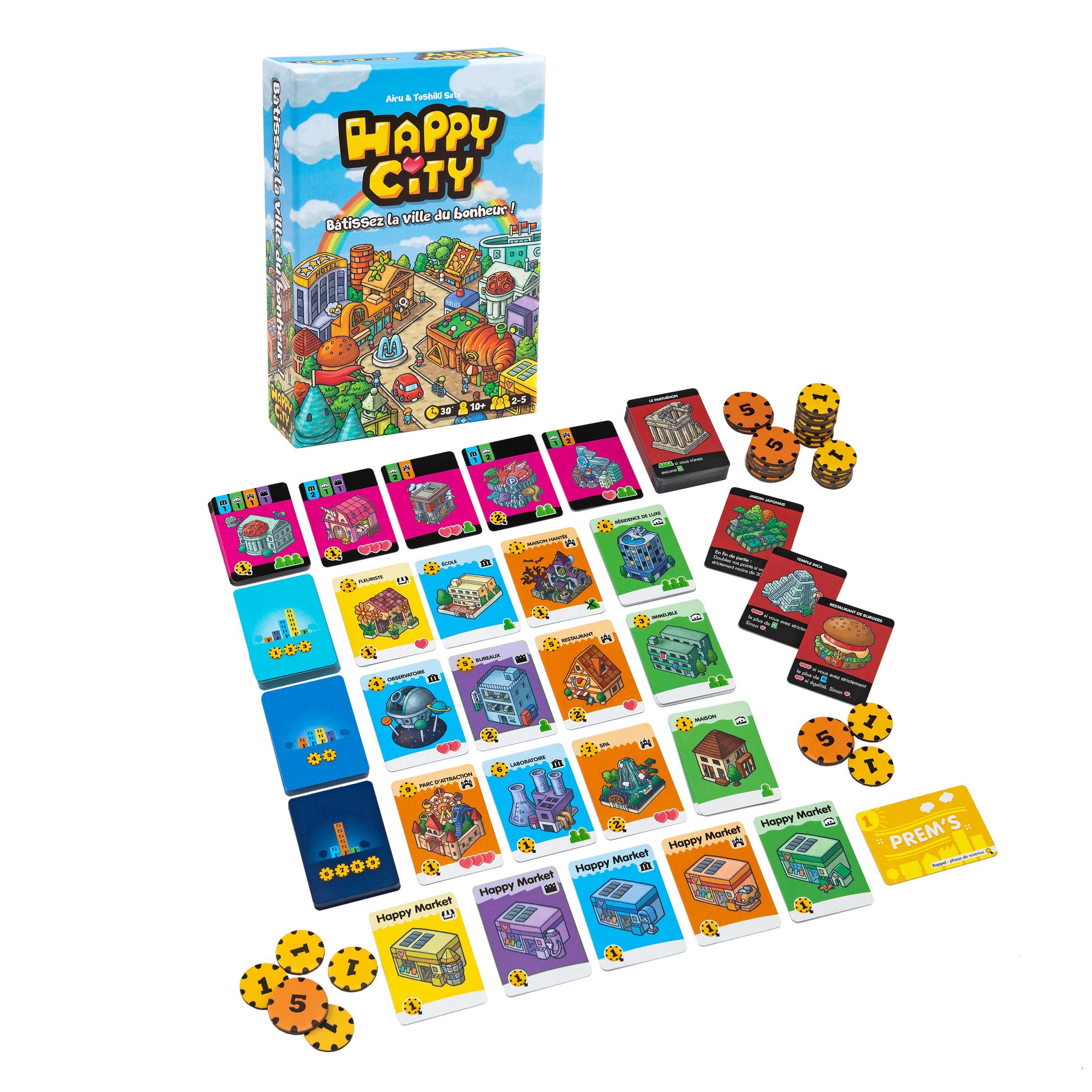 Happy city cocktail games boardgame jeu de société