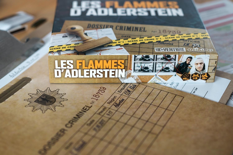 Les flammes d'Adlerstein Origames jeu de société enquête